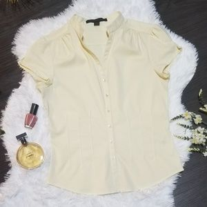 Express Design Studio Pastel Yellow Dress Shirt